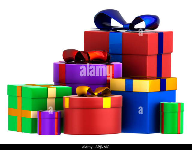 Christmas Presents Cut Out Stack Stock Photos & Christmas Presents ...
