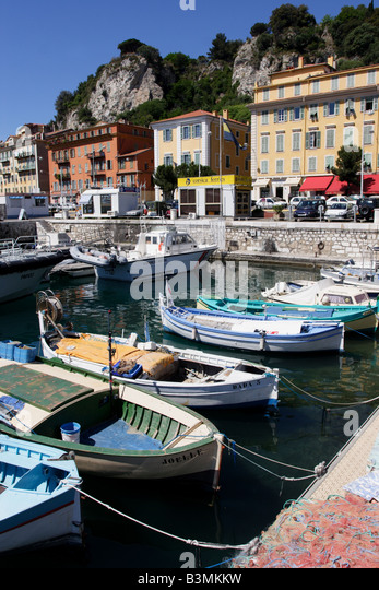 Nice harbor stock photos nice harbor stock images alamy for Nice fishing boats