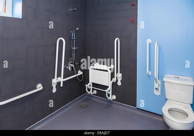 Wetroom stock photos wetroom stock images alamy for Disabled wet room bathroom design