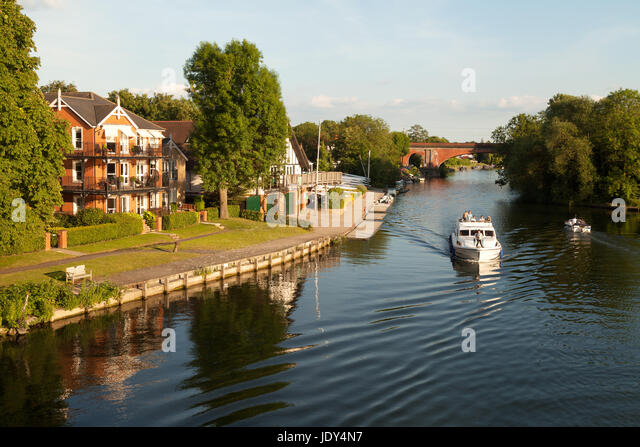 River Thames Buckinghamshire -  at Taplow, Buckinghamshire England UK - Stock Image