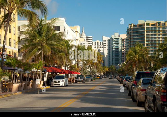miami beach ocean drive stock photos miami beach ocean. Black Bedroom Furniture Sets. Home Design Ideas