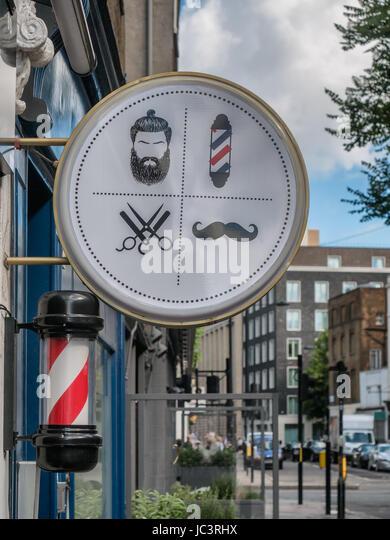 Japanese Hairdresser Covent Garden: Barber Shop Window Stock Photos & Barber Shop Window Stock