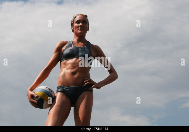 kerri walsh usa america american model statue at volley ball world championships tournament in foro italico