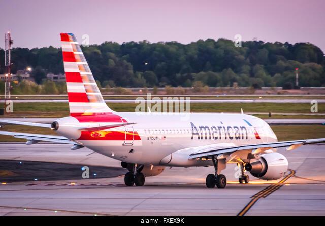 american airlines passenger jet at hartsfield jackson atlanta international airport in atlanta georgia