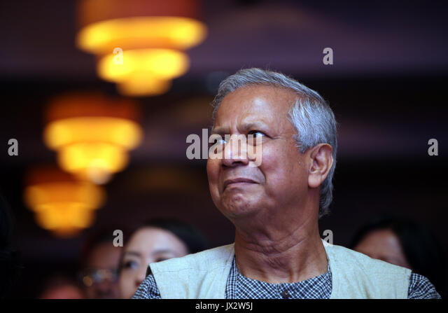 portrait of nobel prize laureate professor muhammad yunus who won the nobel peace prize in