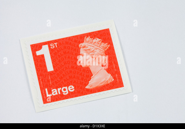1st class stamp for a large letter new colour 2013 england uk