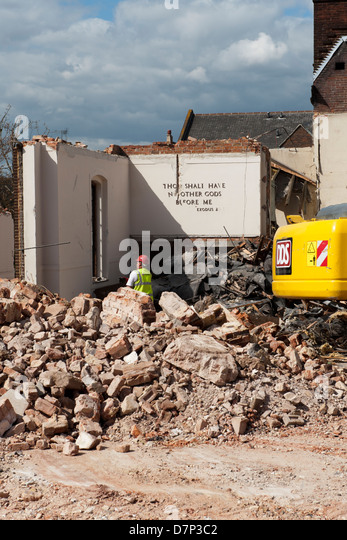 Demolition Of Science : Leveling levelling stock photos