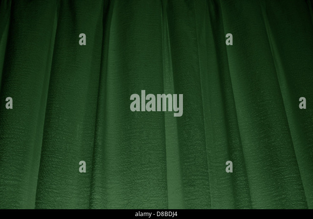 Forest Green Curtains Texture.   Stock Image