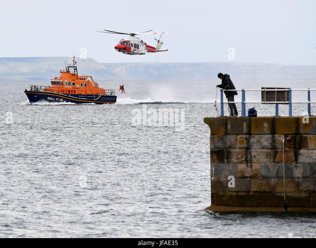 Dorset, UK. 30th June, 2017. After more than 20 years in service, the search and rescue helicopter base will cease - Stock Image