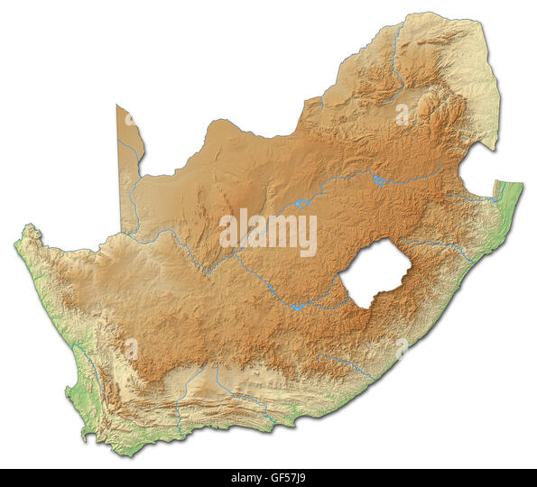 South Africa Map Regions Cut Out Stock Images Pictures Alamy