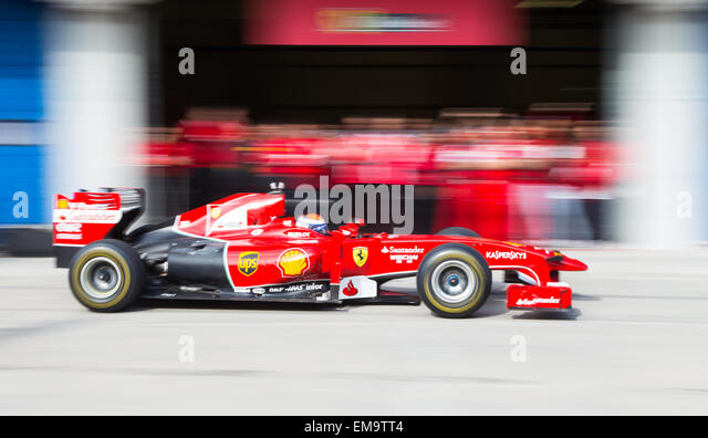 ISTANBUL TURKEY OCTOBER 26 2014 Pit Stop Formula 1 Car Ferrari Racing Days  Istanbul Park Racing