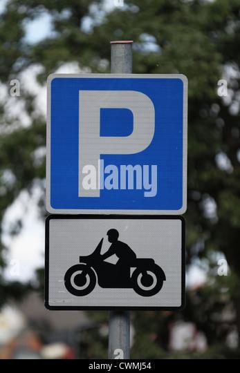 Motorbike Parking Sign Stock Photos Motorbike Parking Sign Stock