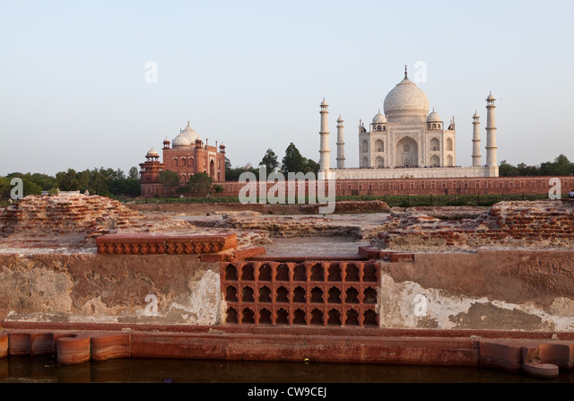 A View Of The Taj Mahal From The Moonlight Garden, Mahtab Bagh   Stock Image