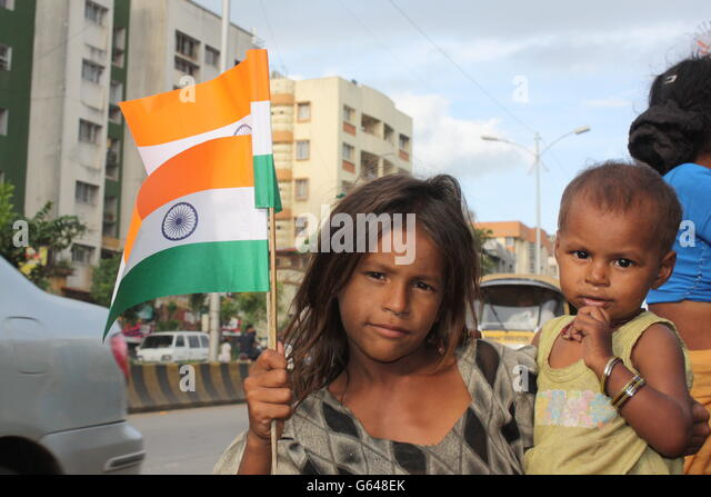 poor indian people with flag wwwimgkidcom the image