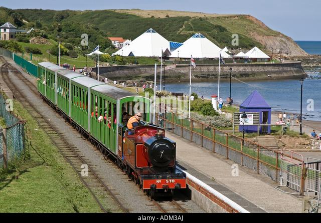 ... Miniature Railway and Sea Life Centre Yorkshire UK - Stock Image