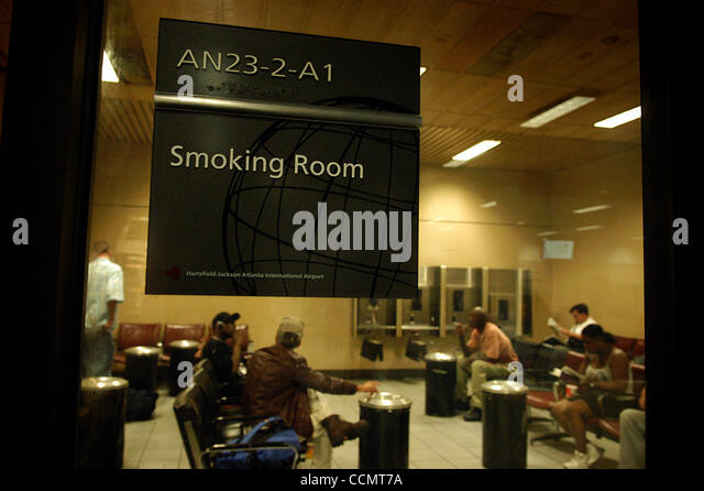 designated smoking room for nicotine hungry passengers at atlanta s hartsfield jackson airport c