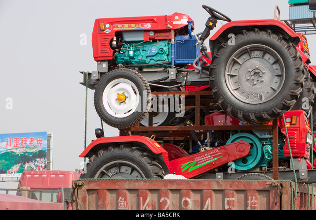 Chinese Antique Tractors : Red lorry stock photos images alamy
