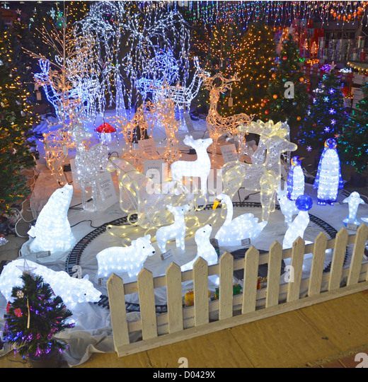 Garden Decor Newcastle: Christmas Display Uk Stock Photos & Christmas Display Uk