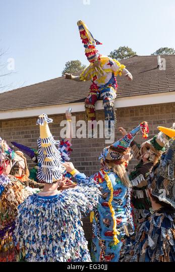 Cajun Mardi Gras Revelers Riding Stock Photos Cajun