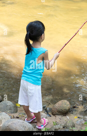 Fisherman little girl stock photos fisherman little girl for Little girl fishing pole