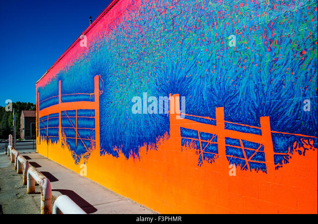 Pinedale stock photos pinedale stock images alamy for Exterior wall mural