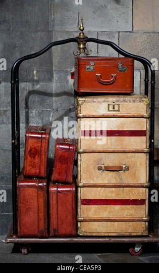 Vintage Luggage Suitcases Stock Photos & Vintage Luggage Suitcases ...