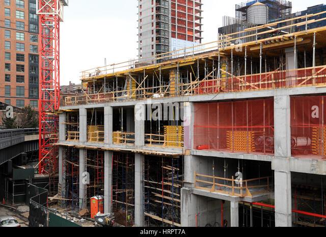 Concrete columns construction stock photos concrete for New construction building process