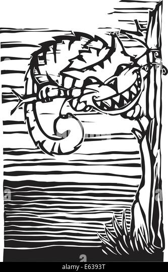 cheshire cat from from lewis carrolls alice in wonderland stock image