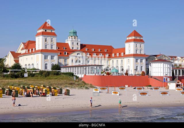 beach kurhaus binz germany mecklenburg western stock. Black Bedroom Furniture Sets. Home Design Ideas
