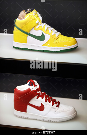 Basketball Shoes, Nike Store, Harlem, New York City, USA Stock Image
