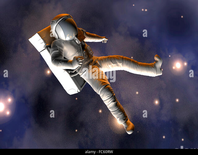 Astronaut floating in space stock photos astronaut for Outer space leicester