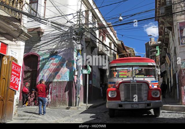 Electric Cable Car In La Paz Bolivia