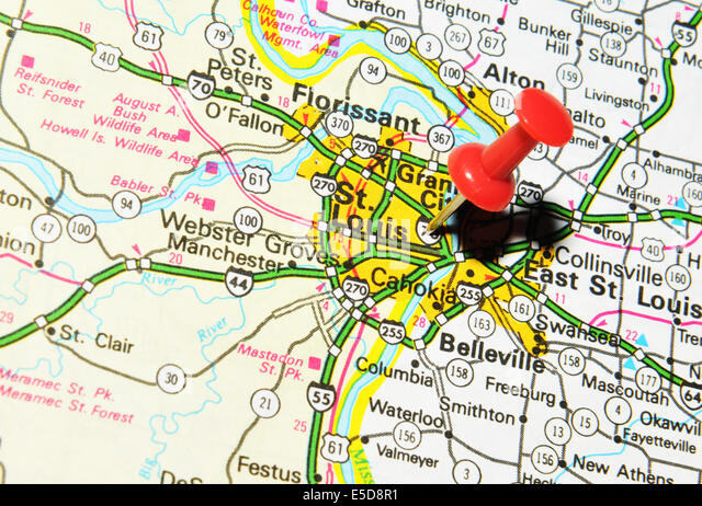 Missouri State Map Stock Photos Missouri State Map Stock Images - Us map st louis