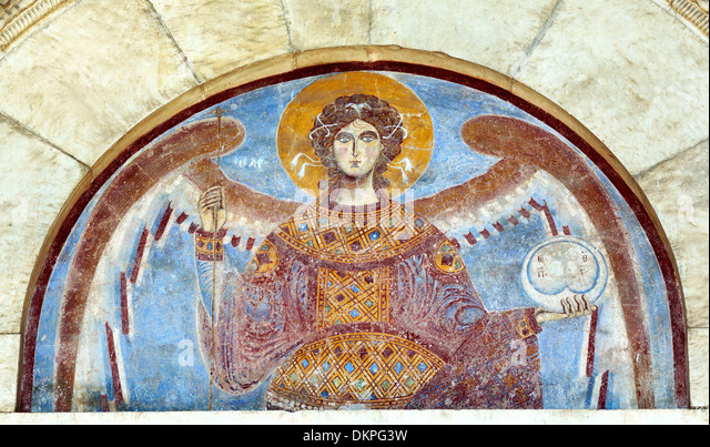 Arc angel stock photos arc angel stock images alamy for Church mural painting