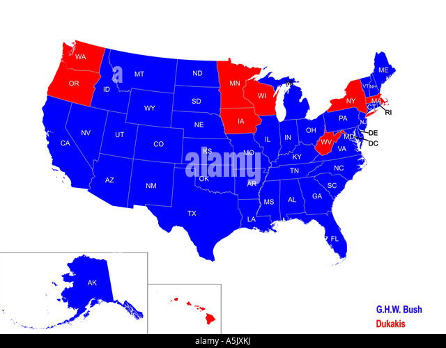 Electoral Vote Maps From ToWincom Political Maps A MAP IN FLUX - 1988 us electoral map