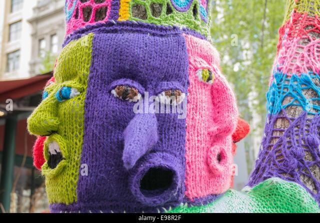 Graffiti Knitting Epidemic : Graffiti knitting stock photos