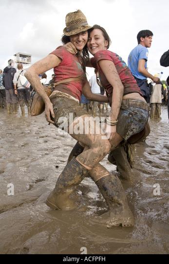 Glastonbury mud girl remarkable, rather