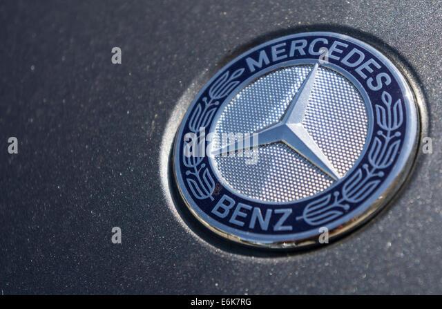Mercedes benz with company logo stock photos mercedes for Mercedes benz stock symbol