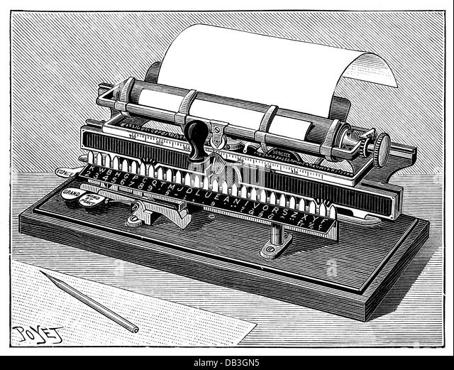 19th Century Typewriter Stock Photos 19th Century Typewriter