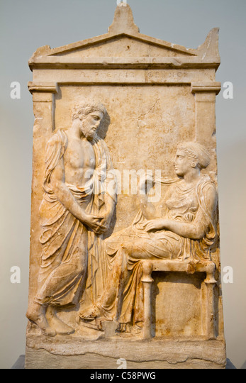 Theano Stock Photos & Theano Stock Images - Alamy Grave Stele Of Ktesilaos And Theano