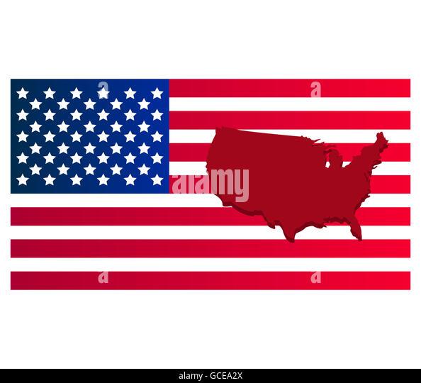 Usa Grunge Flag Map Stock Photos Usa Grunge Flag Map Stock - Us flag on the map