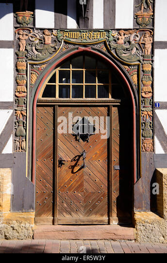 Carved door frame Goslar Harz Lower-Saxony Germany Europe - & Carved Door Frame Stock Photos \u0026 Carved Door Frame Stock Images - Alamy