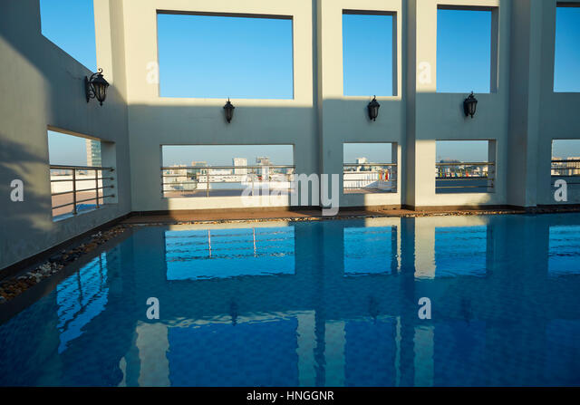 Rooftop swimming pool stock photos rooftop swimming pool Ho chi minh city hotels with swimming pool