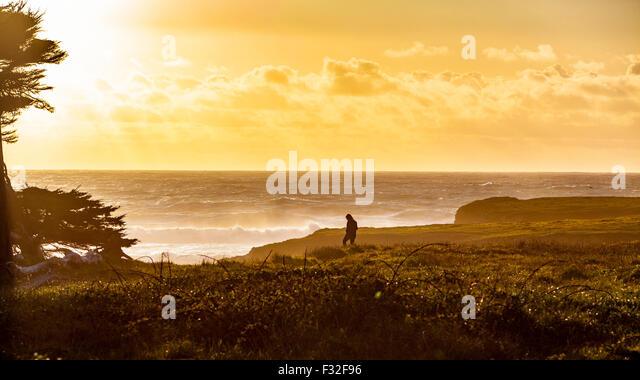 Sunset in Fort Bragg California - Stock Image