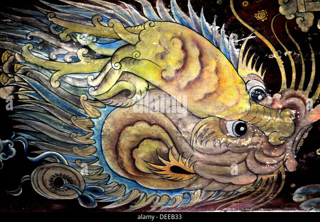 Dragon mural stock photos dragon mural stock images alamy for Chinese dragon mural