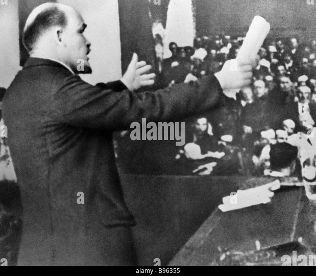 Vladimir Lenin Speaking About The International Situation And Speech Stock Photos