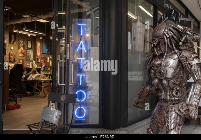 Irish design shop stock photos irish design shop stock for Best tattoo shop dublin