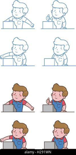 Cashier Cartoons: Cash Register Cartoon Stock Photos & Cash Register Cartoon