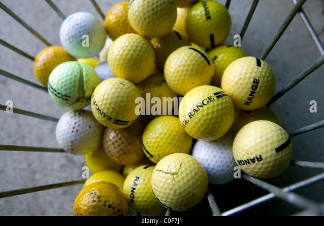 Golf Balls Basket Driving Range Stock Photos Amp Golf Balls