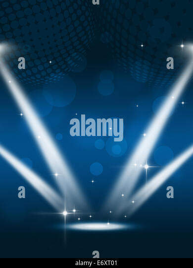 Party Music Blue Background Flyers Stock Photos & Party Music Blue ...